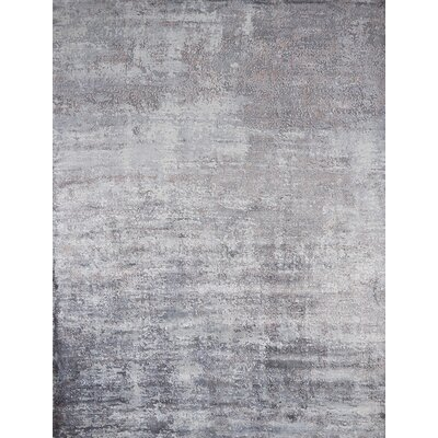 Olin Hand-Woven Slate Area Rug Rug Size: Rectangle 76 x 96