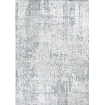 Olin Hand-Woven Gray Area Rug Rug Size: Rectangle 86 x 116