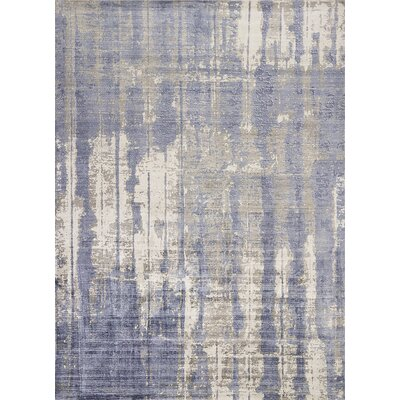 Olin Hand-Woven Gray/Blue Area Rug Rug Size: Rectangle 76 x 96