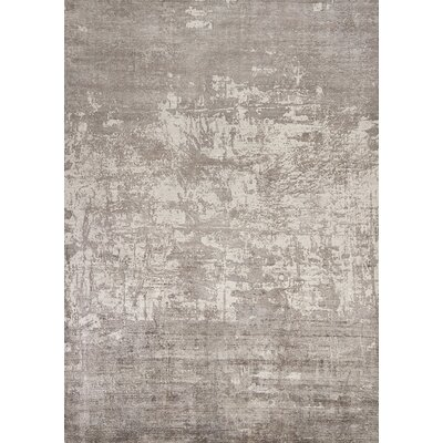 Olin Hand-Woven Gray Area Rug Rug Size: Rectangle 76 x 96