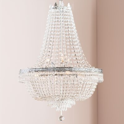 Dyann 9-Light LED Empire Chandelier Finish: Silver