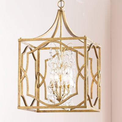 Destrey 6-Light Foyer Pendant Finish: Antique Gold