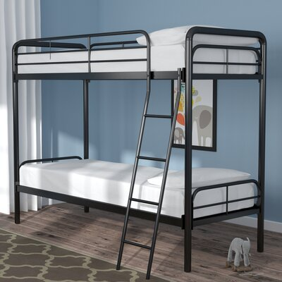 Maryanne Twin Over Twin Bunk Bed Color: Black