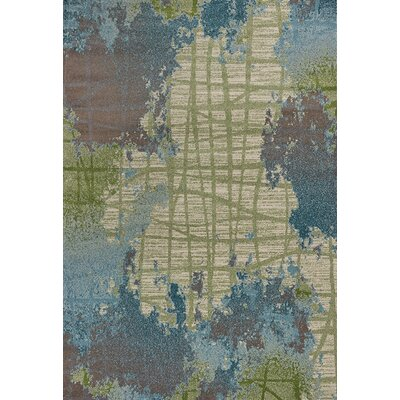 Korth Green/Blue Area Rug Rug Size: Rectangle 53 x 77