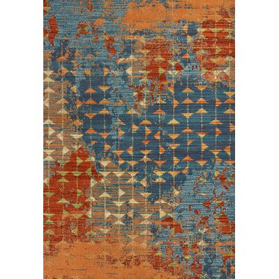 Korth Blue/Orange Area Rug Rug Size: Rectangle 53 x 77