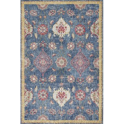 Cruise Blue Area Rug Rug Size: Runner 27 x 8