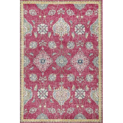 Cruise Pink Area Rug Rug Size: Rectangle 53 x 77