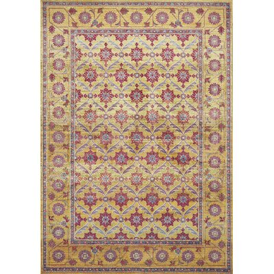 Cruise Golden Area Rug Rug Size: Runner 27 x 8