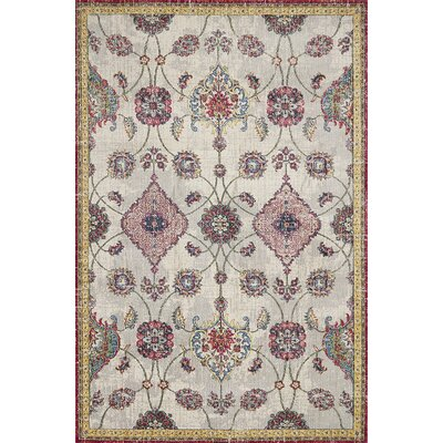Cruise Ivory/Pink Area Rug Rug Size: Rectangle 710 x 112