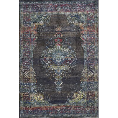 Cruise Charcoal Area Rug Rug Size: Rectangle 53 x 77