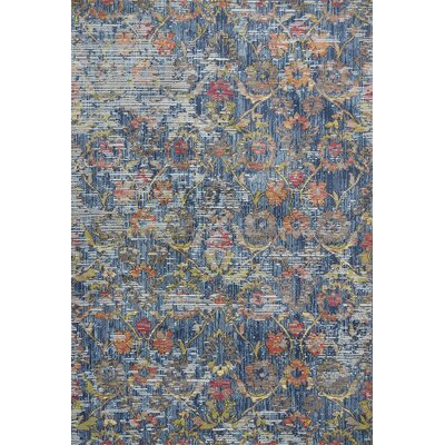 Cruise Blue Area Rug Rug Size: Rectangle 53 x 77