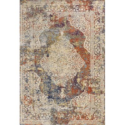 Cruce Beige Area Rug Rug Size: Rectangle 53 x 77