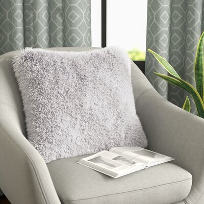 Broughton Very Soft and Comfy Plush Faux Fur Throw Pillow Color: Pure White