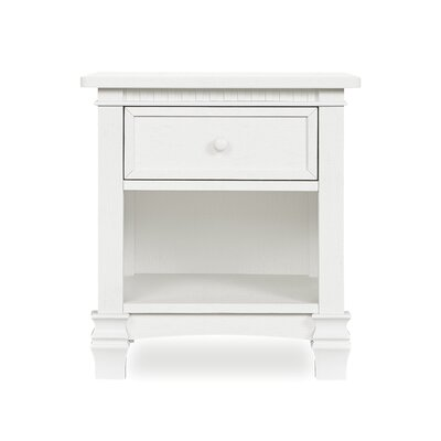 Santa 1 Drawer Nightstand Color: Brush White