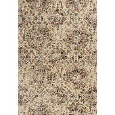 Crozier Mosaic Sand Area Rug Rug Size: Rectangle 53 x 77
