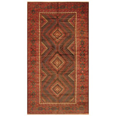 One-of-a-Kind Mikac Hand-Knotted Wool Red Area Rug
