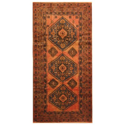 One-of-a-Kind Mikac Hand-Knotted Wool Salmon Area Rug