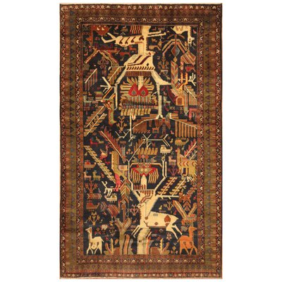 One-of-a-Kind Mikac Hand-Knotted Wool Brown/Beige Area Rug