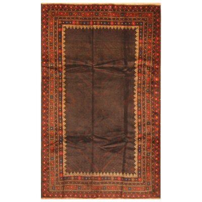 One-of-a-Kind Mikac Hand-Knotted Wool Brown Area Rug