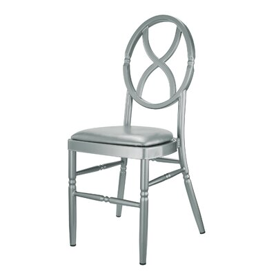 Kunkel Velika Series Stackable Sandglass Aluminum Dining Chair Color: Silver