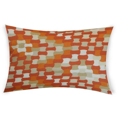 Obregon Cotton Lumbar Pillow Color: Orange