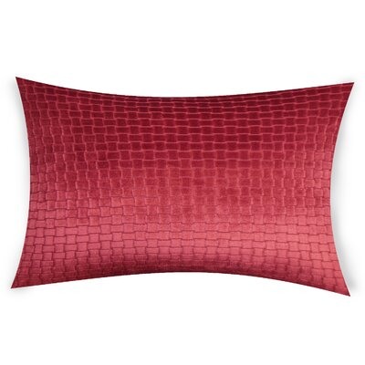 Hawthorn Lumbar Pillow Color: Red