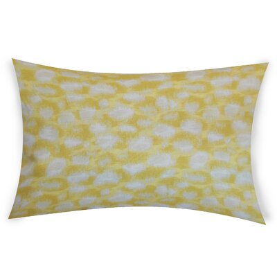 Obryant Cotton Throw Pillow Color: Yellow