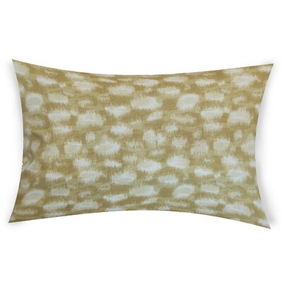 Obryant Cotton Throw Pillow Color: Beige