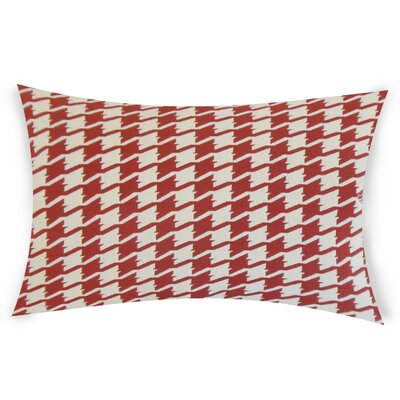 Epperson Cotton Lumbar Pillow Color: Red