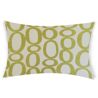 Oakman Cotton Lumbar Pillow Color: Green