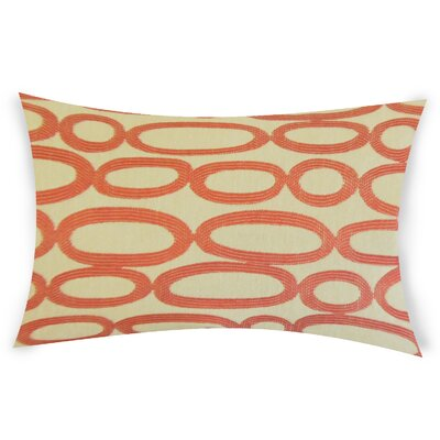 Oakman Cotton Lumbar Pillow Color: Orange