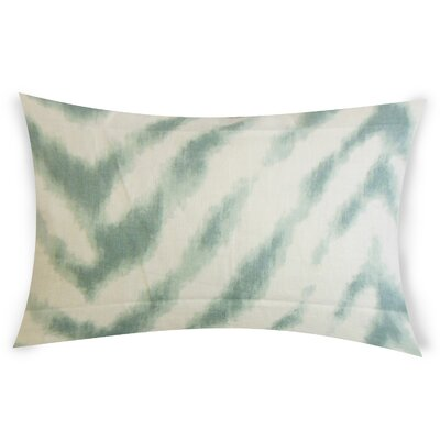Colombo Linen Lumbar Pillow Color: Turquoise