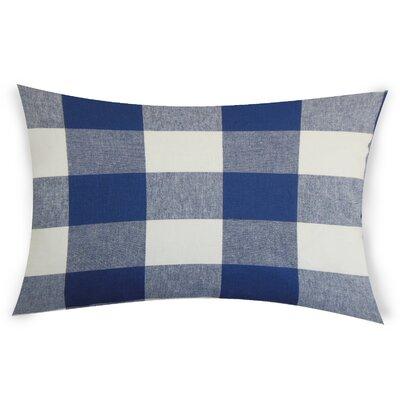 Koopman Cotton Lumbar Pillow Color: Blue
