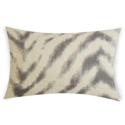 Colombo Linen Lumbar Pillow Color: Brown