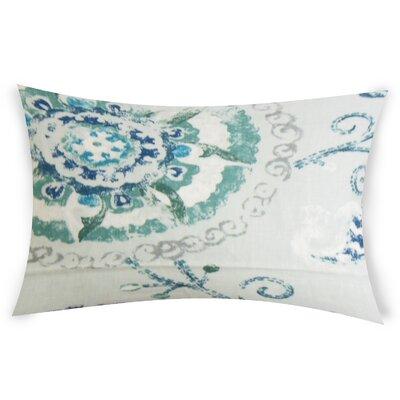 Edgin Linen Lumbar Pillow Color: Turquoise