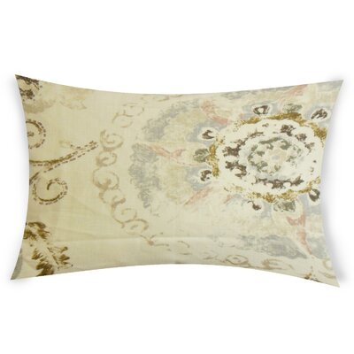 Edgin Linen Lumbar Pillow Color: Brown