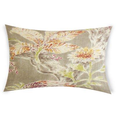 Eppinger Linen Lumbar Pillow Color: Red