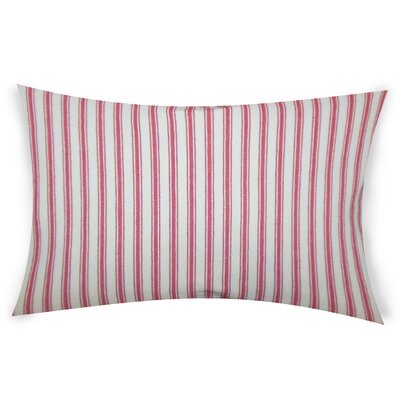 Hayse Cotton Lumbar Pillow Color: Pink