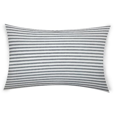 Hayse Cotton Lumbar Pillow Color: White
