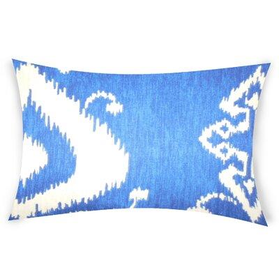 Edmundson Cotton Lumbar Pillow Color: Blue