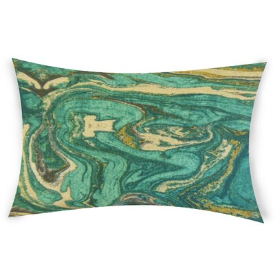 Harness Cotton Lumbar Pillow Color: Turquoise