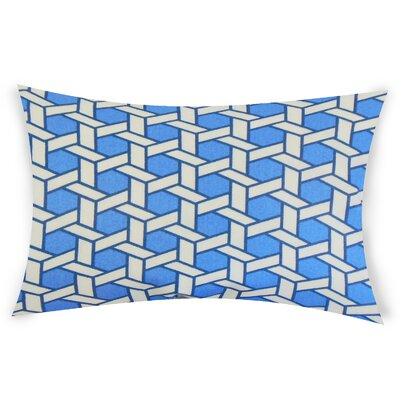 Ohanlon Cotton Lumbar Pillow Color: Blue
