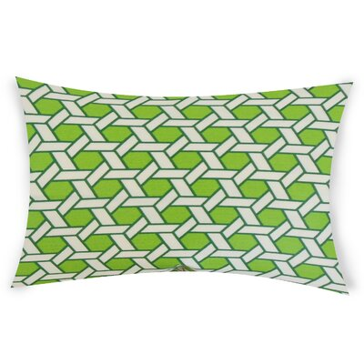 Ohanlon Cotton Lumbar Pillow Color: Green