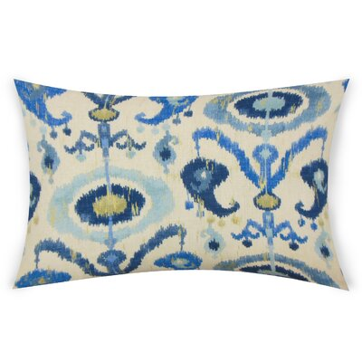 Obanion Cotton Lumbar Pillow Color: Blue