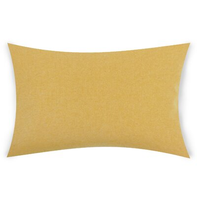 Dove Springs Wool Lumbar Pillow Color: Yellow
