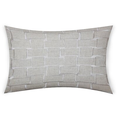 Colophon Lumbar Pillow Color: Gray