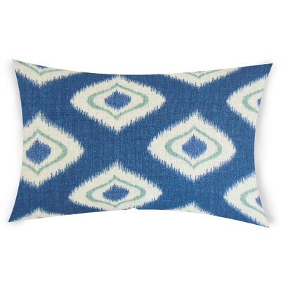 Goldener Cotton Lumbar Pillow Color: Blue