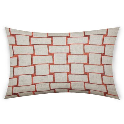 Colophon Lumbar Pillow Color: Orange