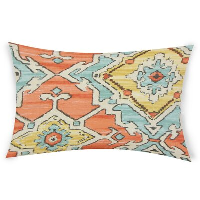 Edney Cotton Lumbar Pillow Color: Orange