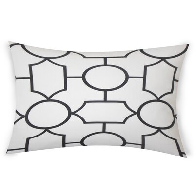 Colston Cotton Lumbar Pillow Color: Black